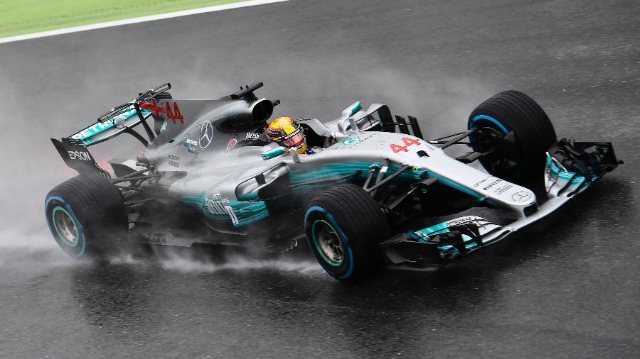 Inglês Lewis Hamilton no treino classificatório para o GP da Itália de Fórmula 1.