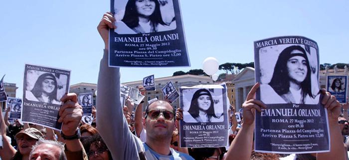 Manifestação pelo caso de Emanuela Orlandi em Roma.
