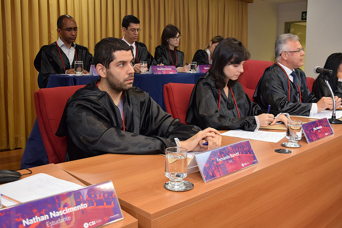 Fernando Barotti, jurado na grande Final da edição 2017 do Tribunal Internacional Estudantil (TRI-e).