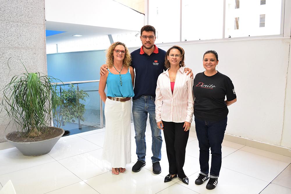 Coordenação do Vestibular (da esquerda para direita): Cácia Stumpf, Franclim Sobral, Anacélia Rocha, Djoá Ferreira.