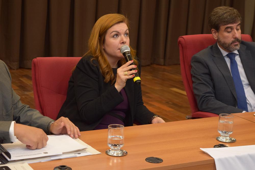 A coordenadora regional das Promotorias de Justiça de Defesa do Meio Ambiente das Bacias dos Rios das Velhas e Paraopeba, Amdressa de Oliveira Lanchotti.