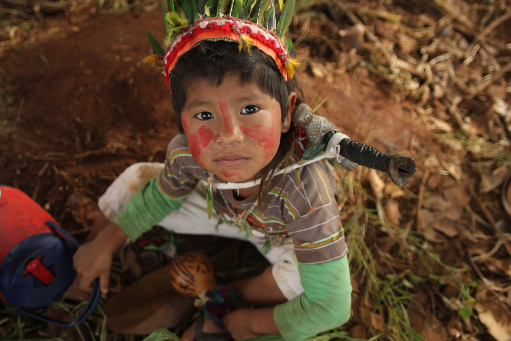 Comunidade indígena Guarani Ñandeva de Yvy Katu, municípios de Japorã e Iguatemi (MS), fronteira com o Paraguai