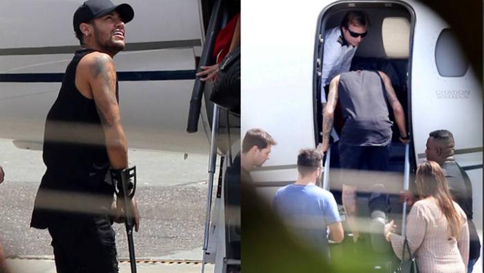 Neymar segue para Mangaratiba, no litoral fluminense, onde iniciará o seu processo de recuperação.