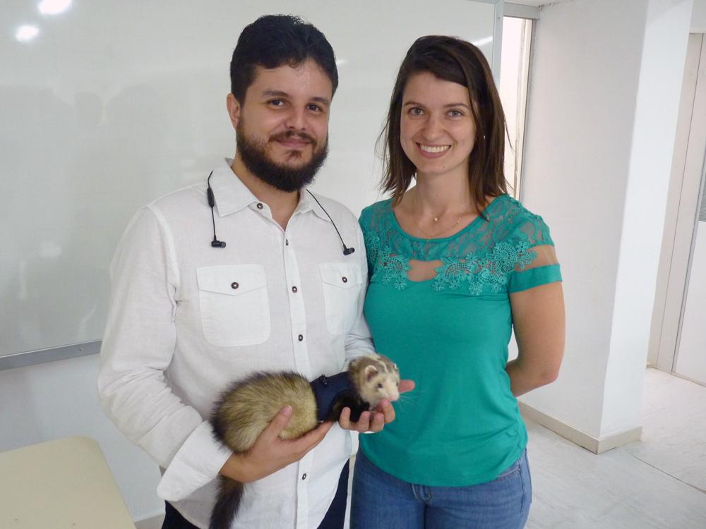 Professores Rodrigo Miranda, da Optimus Engenharia, e Aline Oliveira, da EMGE.
