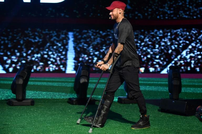 O jogador do PSG Neymar Junior durante evento promocional em São Paulo, em 17 de abril de 2018