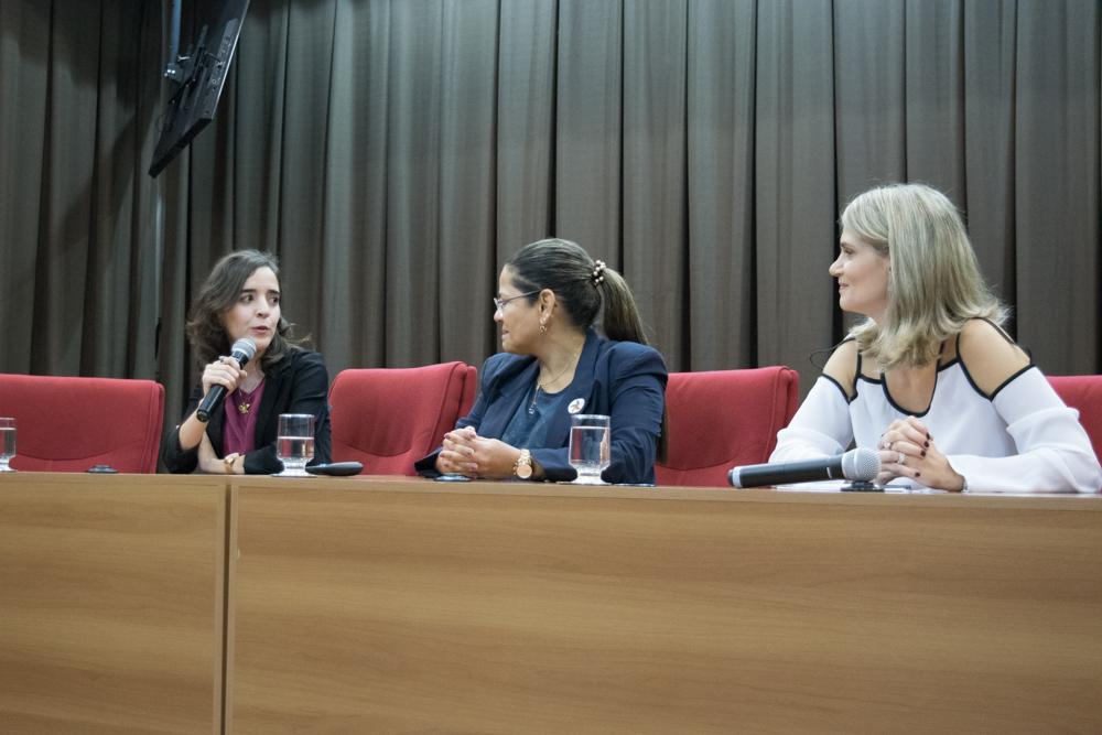 Ana Virgínia Gabrich Fonseca Freire Ramos (Dom Helder), Adriana Goulart de Sena Orsini (UFMG e TRT) e Adriana Freitas Antunes Camatta (Dom Helder).