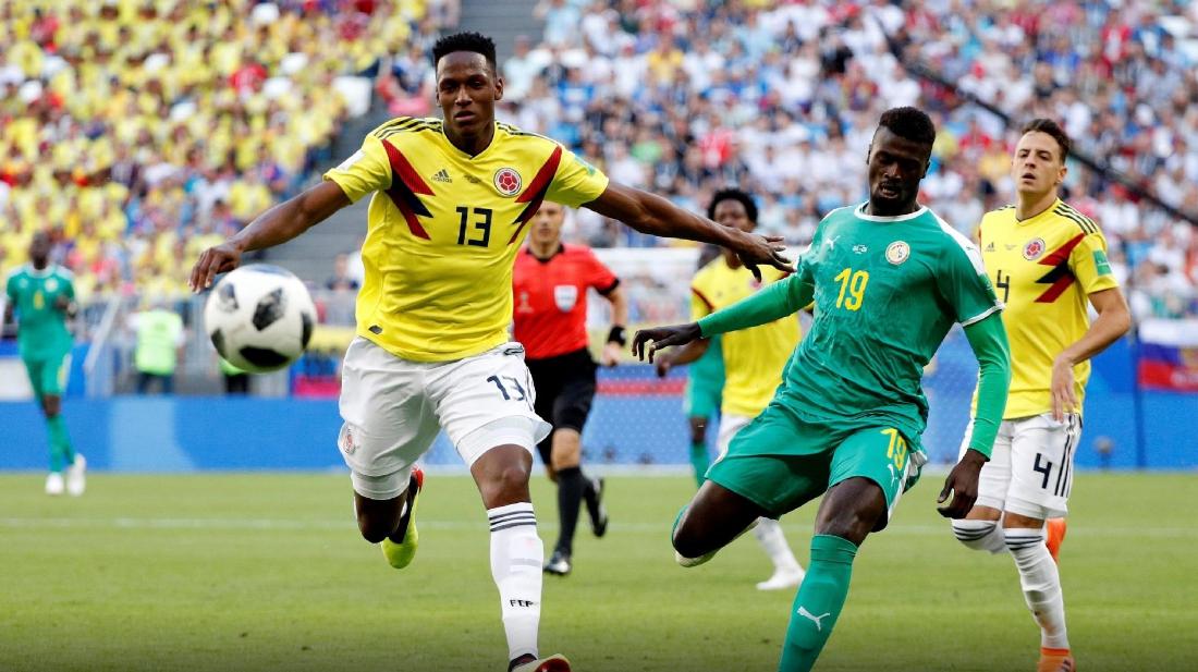 Zagueiro Mina fez o gol da classificação colombiana