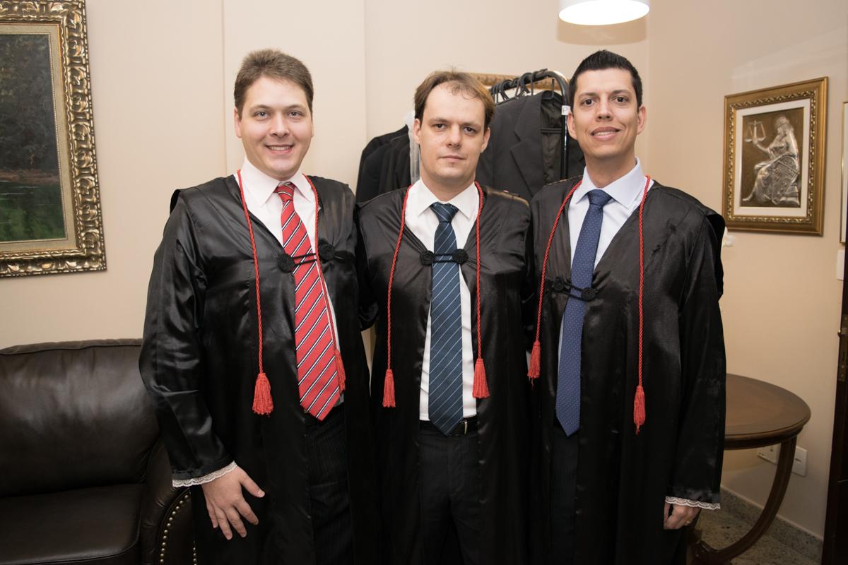 Professores Paulo Antônio Grahl Monteiro de Castro, Maurício Lopes de Paula e Bruno Fabrício da Costa.