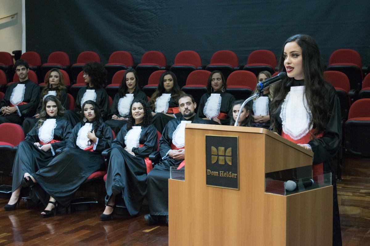 Discurso da oradora da turma, Bruna Mendes Coelho.