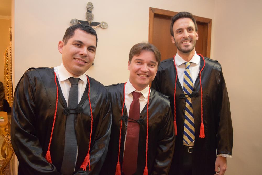 Os professores Diógenes Baleeiro, Fernando Tolentino e Luciano Costa Miguel