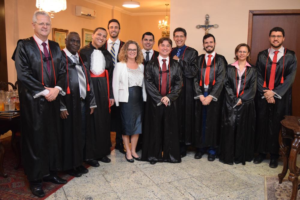 Os pró-reitores Francisco, Sebatien, Cássia e Anacélia, o funcionário Regis, os professores Luciano, Fernando, Diógenes, Pedro, Thiago e o coordenador do Integral Franclim