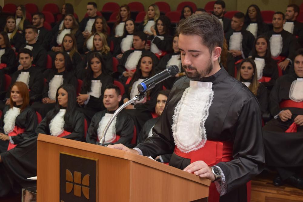 O orador da turma, Rubens Abner Teixeira Fonseca.