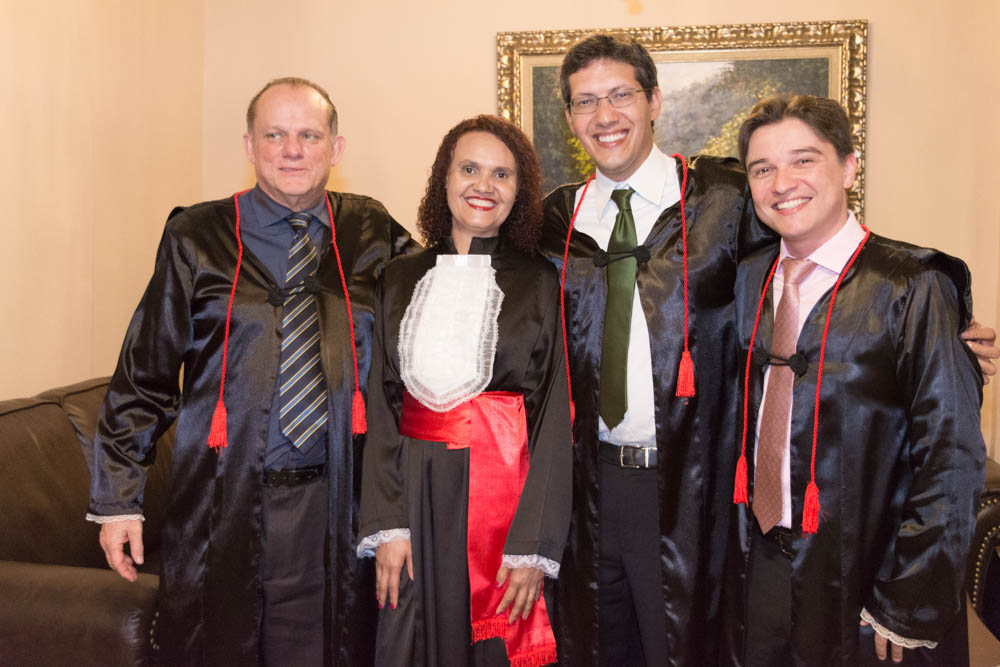 Os homenageados: Newton Teixeira, Jaqueline da Silva, Pedro Maia e Fernando Tolentino.