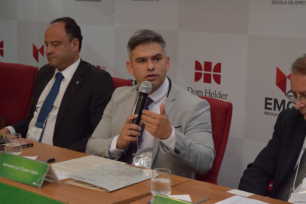 O secretário de Estado de Meio Ambiente e Desenvolvimento Sustentável de Minas Gerais, Germano Luiz Gomes Vieira participou da abertura do evento