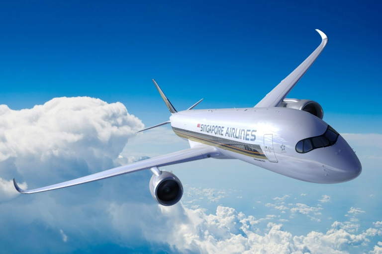 Imagem do A350-900ULR Airbus da Singapore Airlines