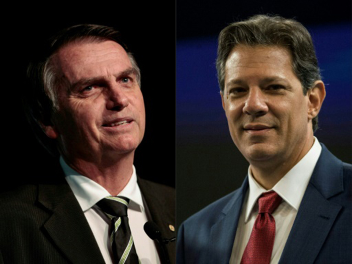 A última pesquisa Datafolha dá a Bolsonaro 56% das intenções de voto contra 44% para Haddad.