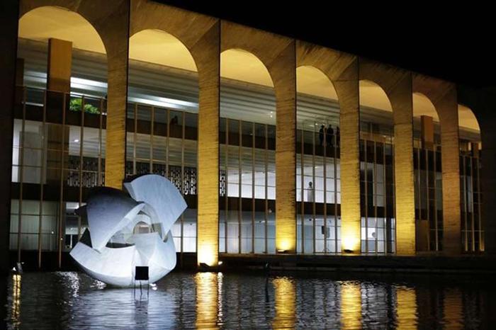 Fachada do Palácio do Itamaraty, em Brasília.