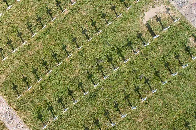 O cemitério militar de Vieil Armand, em 2018. Cerca de 30.000 soldados franceses e alemães morreram nesta montanha na Primeira Guerra Mundial