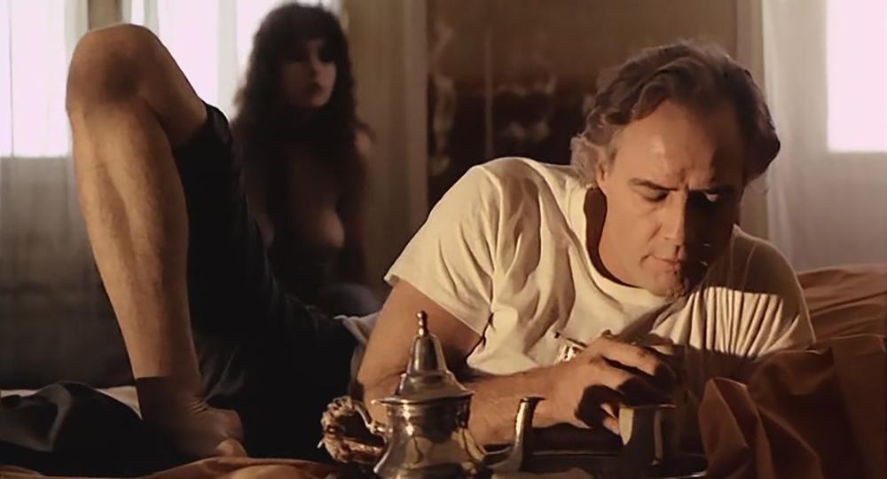 Cena de 'O último Tango em Paris' com Marlon Brando e Maria Schneider.