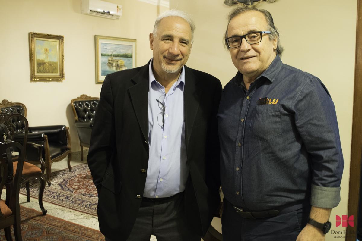 Presidente do Sindilurb, Marcos Vinícius Savoi e o superintendente de Limpeza Urbana (SLU), coronel Genedempsey Bicalho.
