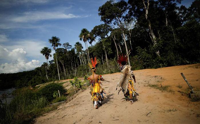Indígenas em Campo Novo do Parecis, no Mato Grosso 26/04/2018.