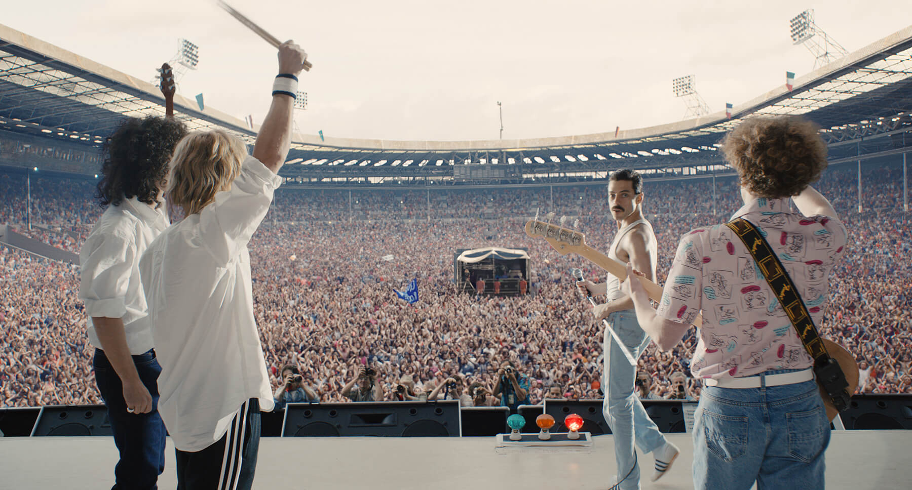 Cena do filme 'Bohemian Rhapsody'.