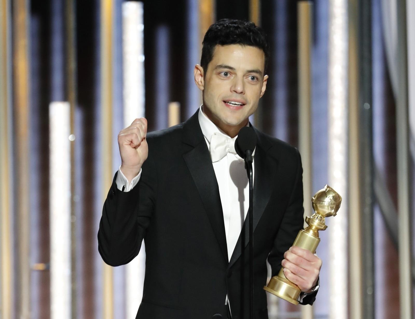 Rami Malek vence o Globo de Ouro de melhor ator em filme de drama por 'Bohemian Rhapsody'.