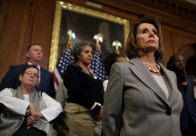 Presidente da Câmara dos Representantes, Nancy Pelosi, em 9 de janeiro de 2019