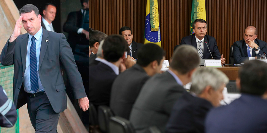 A estratégia usada por Flávio foi classificada por dois auxiliares de Bolsonaro como