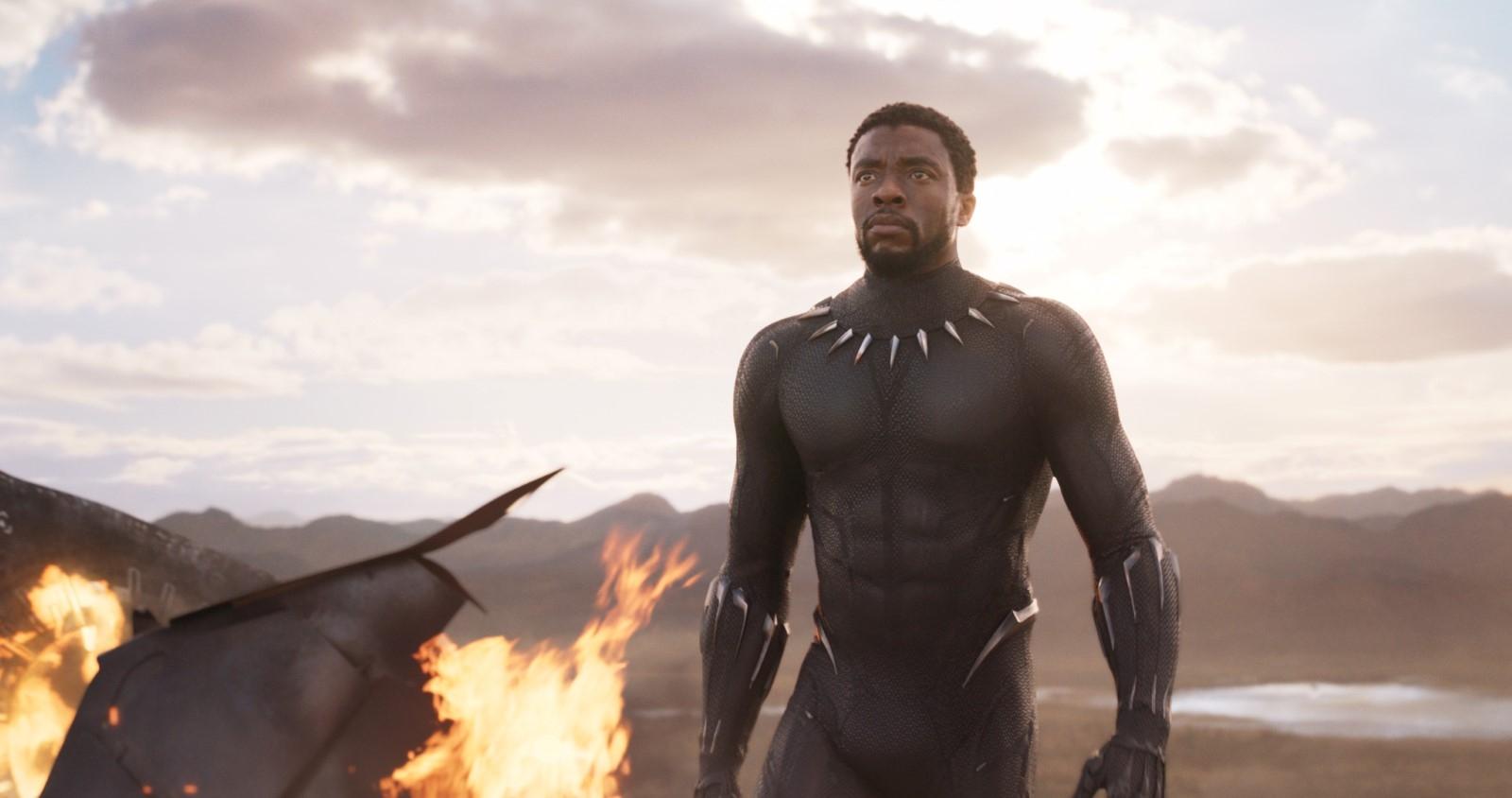 Cena do filme 'Pantera Negra'.