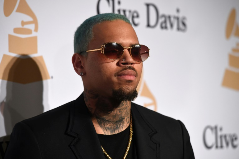 O astro do R&B americano Chris Brown.