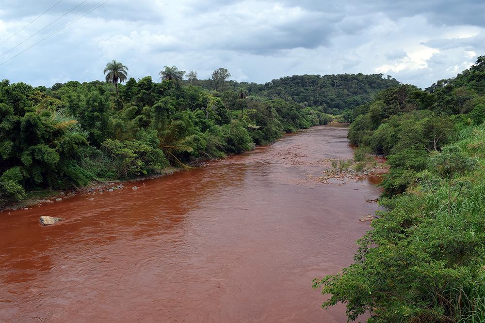 Lama de rejeitos chega ao rio Paraopeba.