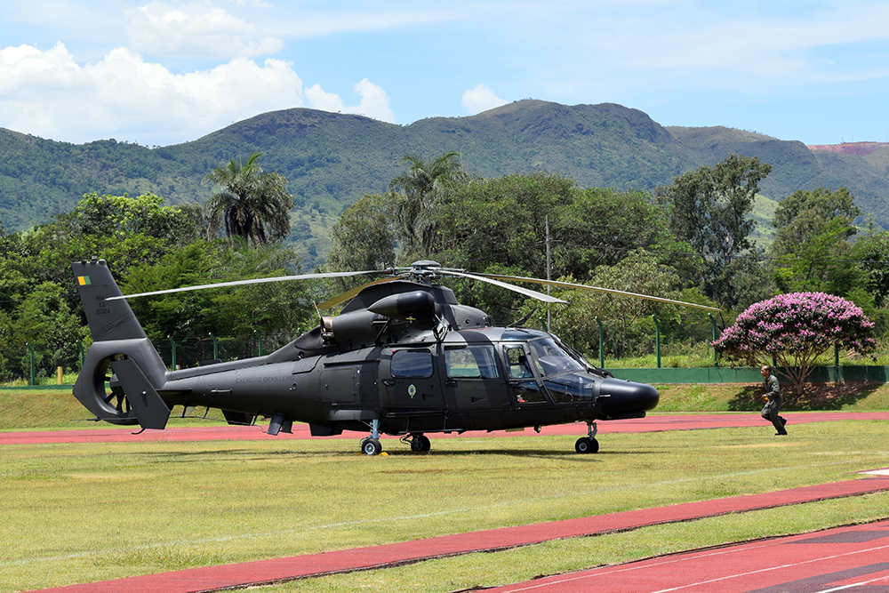Estação do Conhecimento é usada para pouso e decolagem de helicópteros.