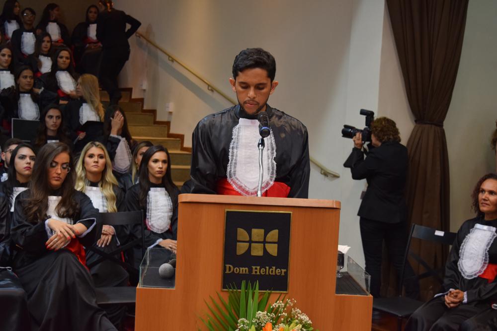 O orador da turma, Guilherme Martins Almeida