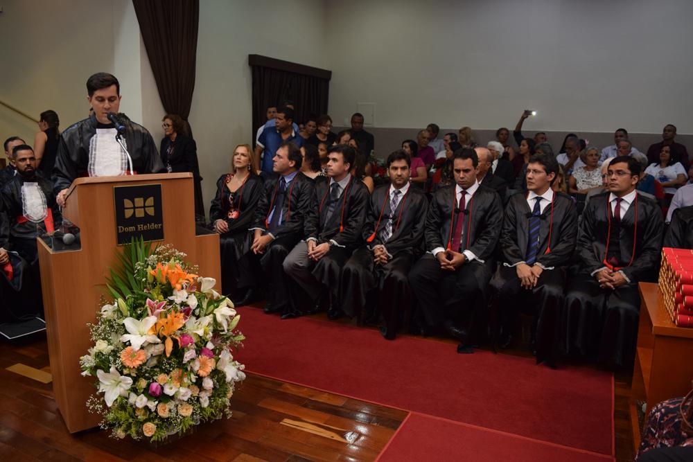 Danilo Assis Teixeira foi o orador das turmas durante a cerimônia