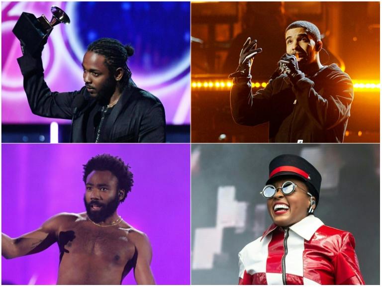 Kendrick Lamar, Drake, Childish Gambino e Janelle Monae