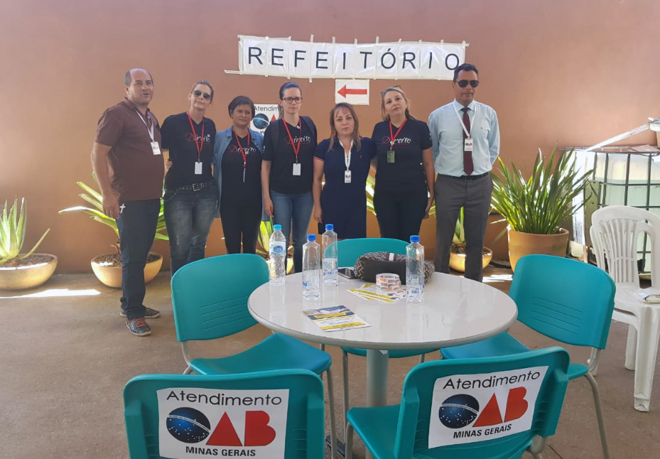 Integrantes do SAJA na Estação do Conhecimento, em Brumadinho.