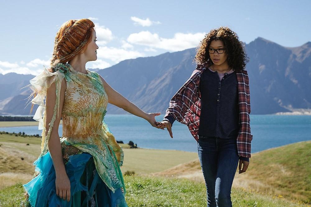 Reese Witherspoon e Storm Reid em cena de 'Uma dobra no tempo', um dos filmes dirigidos por uma mulher em 2018.