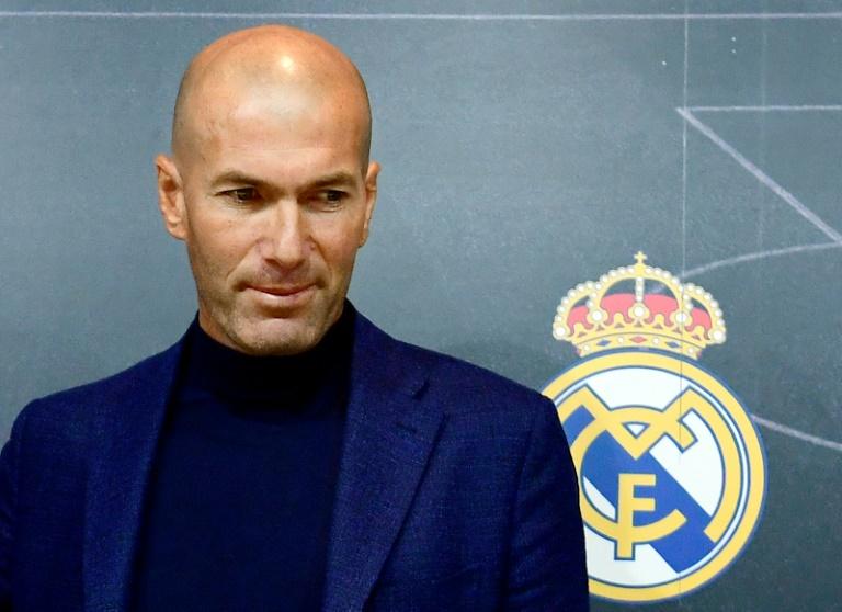 Zinedine Zidane no dia em que anunciou sua demissão do Real Madrid.