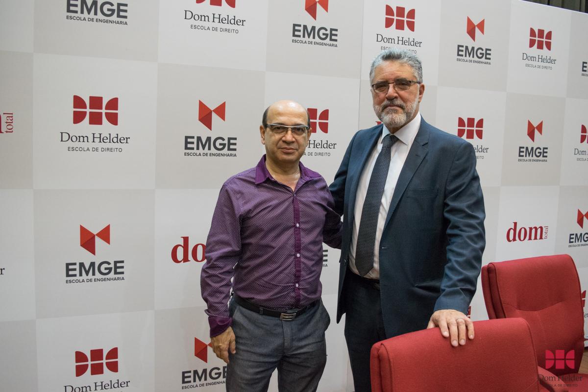 Gilmar Saliba, diretor em BH da Associação Cultural Líbano-Brasileira em Minas Gerais e o professor Roberto Khatlab (USEK).