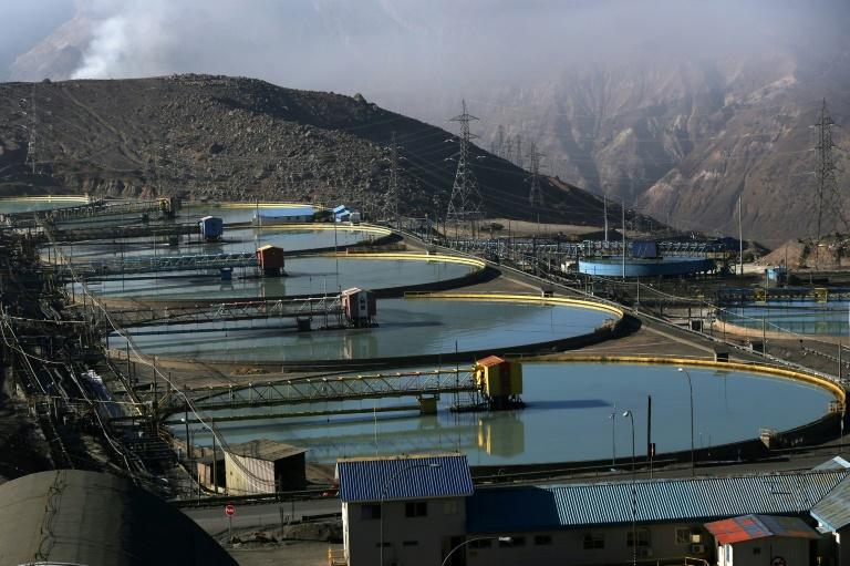 Vista de mina de cobre em Rancagua, Chile