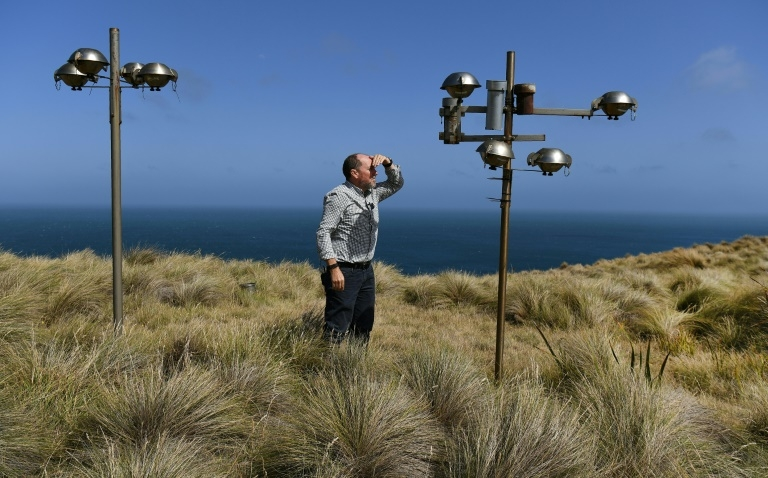 Sam Cleland, diretor da estação de análise da qualidade do ar de Cabo Grim, em 25 de fevereiro de 2019