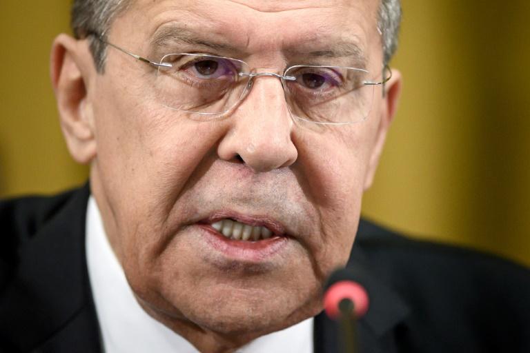 O chanceler russo, Sergei Lavrov, discursa durante uma sessão da Conferência das Nações Unidas para o Desarmamento, em 20 de março de 2019, nos escritórios das Nações Unidas em Genebra