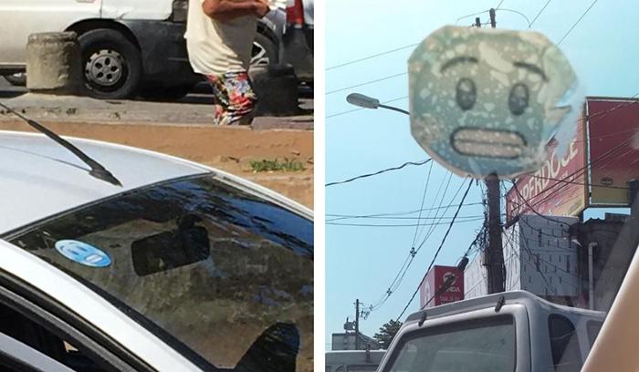 Adesivo afixado aos veículos serve para identificar quem está autorizado a trabalhar na viação Coringa