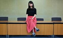 Criadora da petição, Yumi Ishikawa é porta voz contra o assédio (AFP)