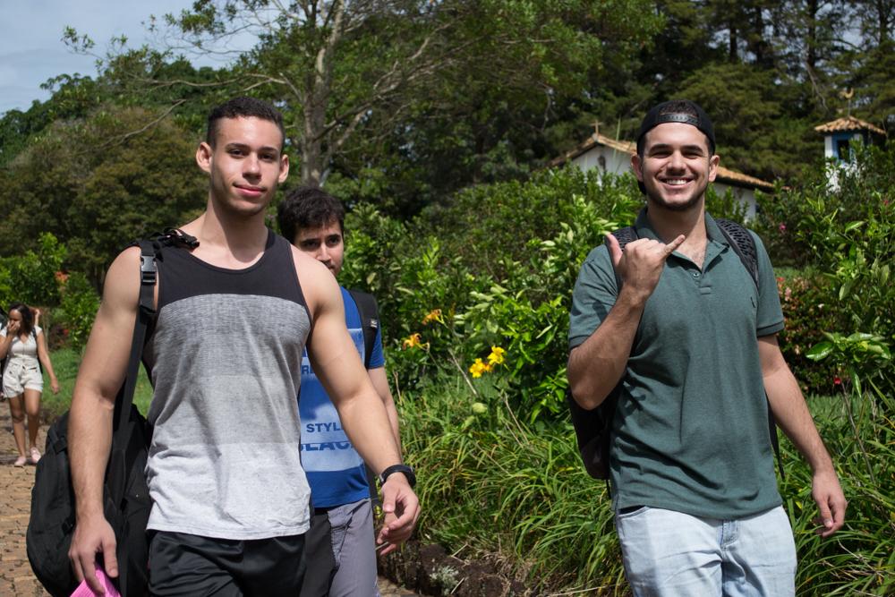 Os estudantes da DHC chegaram animados para o Encad.