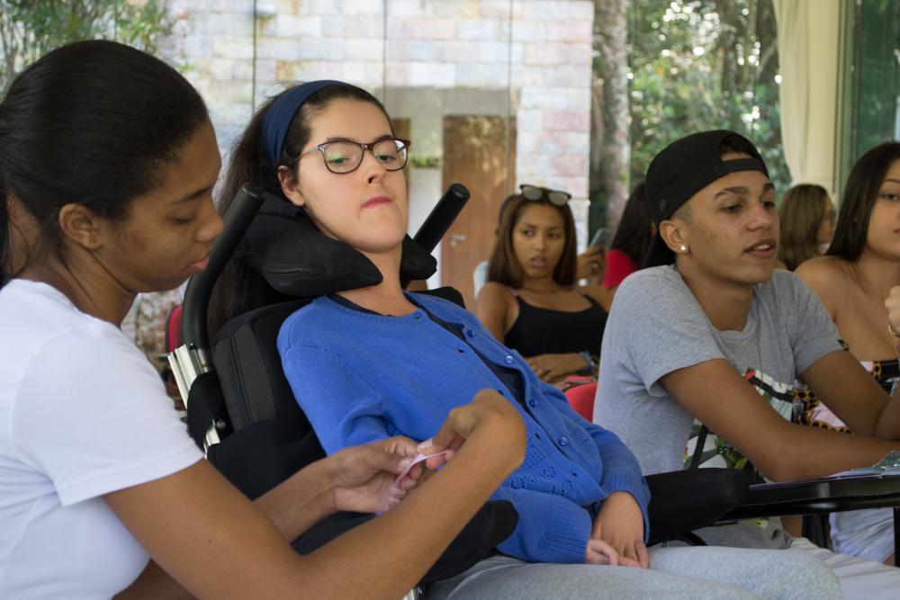 A estudante Ana Luiza se disse encantada com a paisagem da Unidade III.