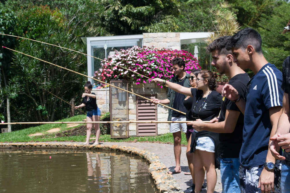 Grande parte dos estudantes vive em ambiente urbano e o dia possibilitou o contato com o campo e a vida simples.
