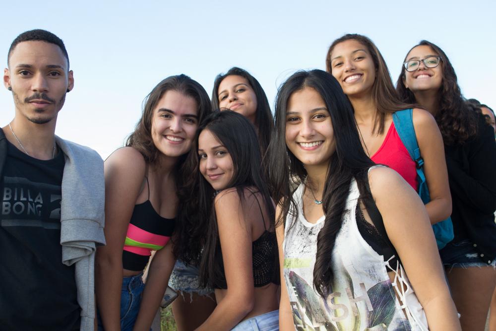 Ao final do dia, a alegria estampada no rosto dos participantes do  'Encontro Acadêmico' (Encad).