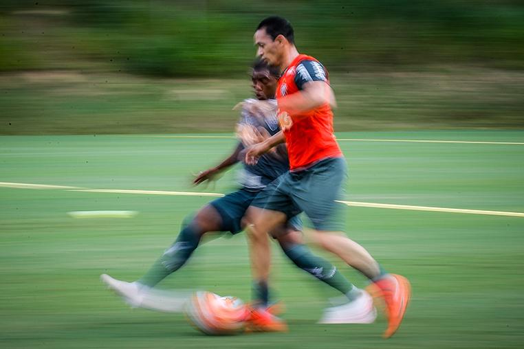 Ricardo Oliveira estará em campo no Mineirão contra o Nacional do Uruguai.